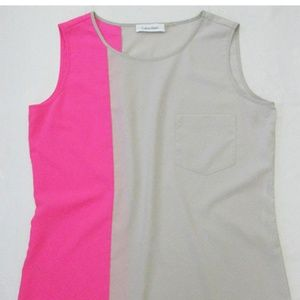 Calvin Klein color block tank top